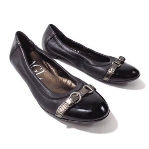 AGL Attilio Giusti Leombruni Black Leather Flats